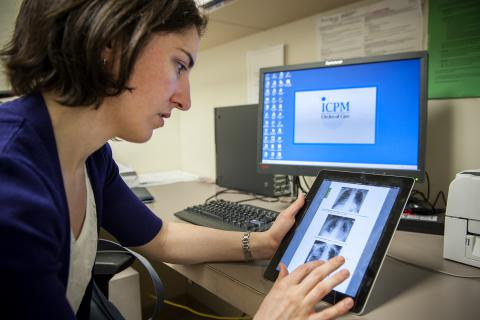Dr. Catherine Barry is one of six residents trying an iPad to see how they perform on the units at KGH.