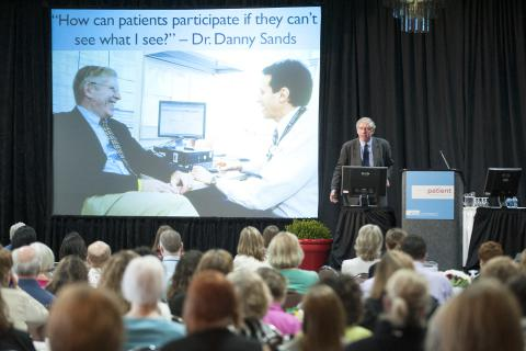 Speaker Dave deBronkart, or 'E-Patient Dave', talks about partnering with patients.