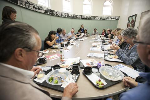 As part of their orientation session, members of our Board of Directors ordered lunch from our Steamplicity menu. They also learned about how patient satisfaction is soaring with the meals.