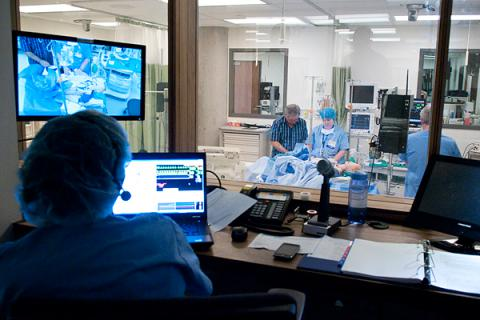 Inside new School of Medicine building