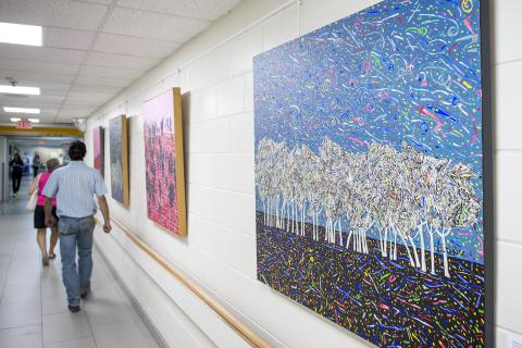 New art brightens up the hospital's main hall