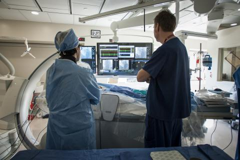 Patient-oriented research takes place all over KGH, including in our recently opened state-of-the-art electrophysiology lab for cardiac patients.