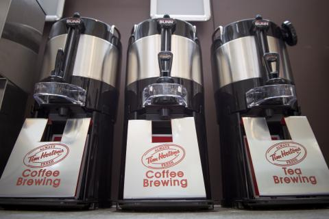 Tim Hortons coffee, tea and capuccino is now served in the Burr wing