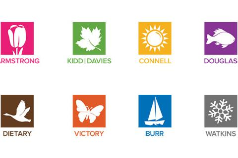 KGH will soon be divided into eight different zones, each with its own name, colour and symbol.