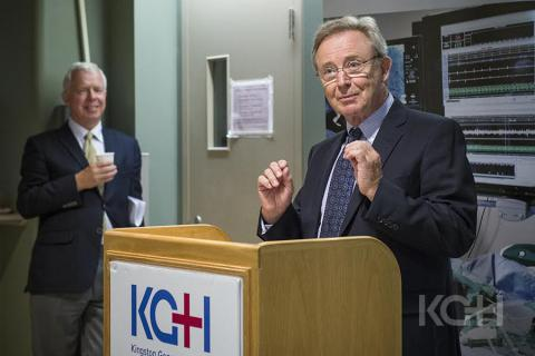 Roger Deeley, President of the KGH Research Institute, speaks to donors and gusets at the event.