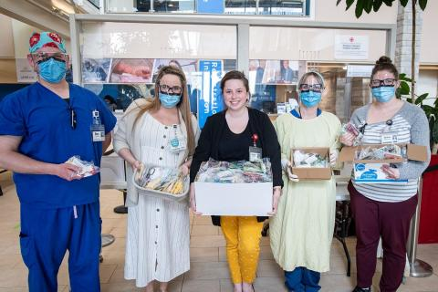 image of staff with fabric masks