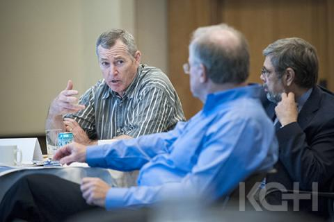 Jim Flett working with members of the KGH Board of Directors during a planning session.