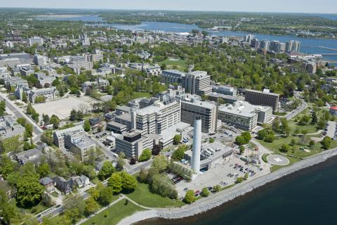 Aerial photo of Kingston General Hospital