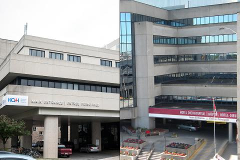 Images of KGH and Hotel Dieu Hospital