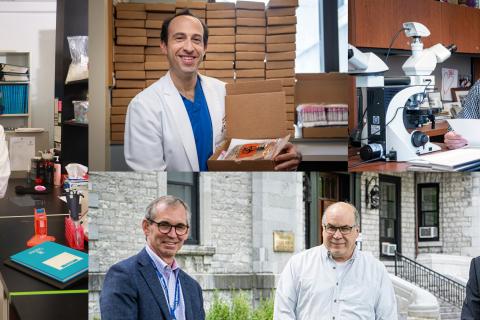 Collage of researchers: Paula James, David Maslove, Michael Rauh, Martin Petkovich, Jacob Rullo & Martin tenHove