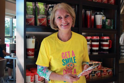 KGH staff volunteered at Tim Hortons locations during Smile Cookie week