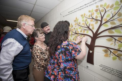 Families of organ donors are invited back to the KGH site to place the name of their loved one a memorial wall