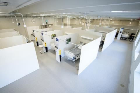 image of patient bays at KHSC Union Street Site
