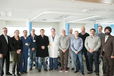 A team of physicians traveled from South America to Kingston to learn about the cardiac technology we have in place