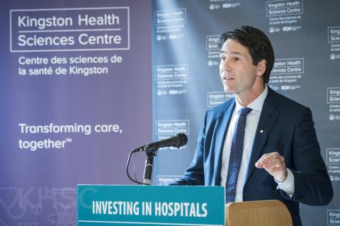 Minister of Health and Long-Term Care Dr. Eric Hoskins announced the Provincial Government's support of the project during a media event at our Kingston General Hospital site.