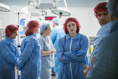 Members of KGH's surgical team visit a recently redeveloped OR in Hamilton