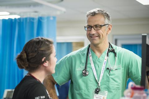 Dr. Damon Dagnone, a physician in the KHSC-KGH site Emergency Department, has volunteered to help one of his patients in an extraordinary way