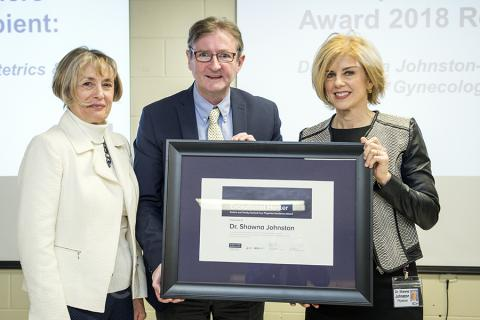 (Left to Right) Patient Experience Advisor Sue Bedell, Chief of Staff Dr. Michael Fitzpatrick and Dr. Shawna Johnston