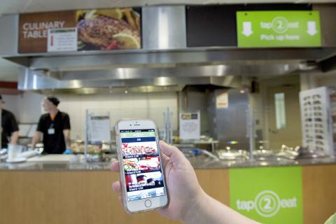 The new tap2eat app allows users to order and pay for food and beverages at KGH using their mobile device.