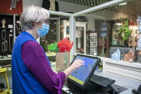 volunteer and online gift shop