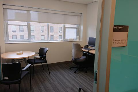 Patient interview room