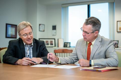 KHSC CEO Dr David Pichora and Board Chair David O'Toole