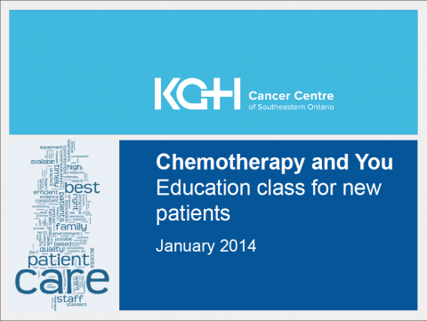 Chemotherapy and You: Education class for new patients