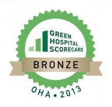 OHA Green Hospital Scorecard Bronze award 2013