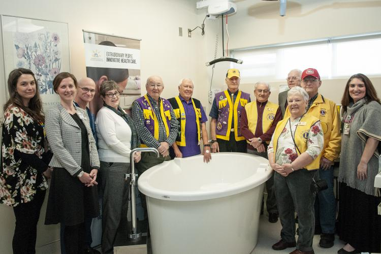 Thanks to a major gift from the Kingston Lion's Club, KHSC was able to install to permanent birthing tubs in our Labour and Delivery Unit. The tubs can be used to help control pain through water immersion or for waterbirth under the supervision of a trained midwife.