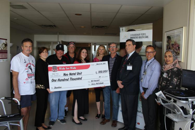 This year, UHKF received $25,000 for the Pediatric Unit at KHSC from the Kids for Kids Hockey Tournament. The tournament is an annual event, with teams from around the province competing, that raises funds for the Neonatal Intensive Care Unit as well as other children's charities in our community.