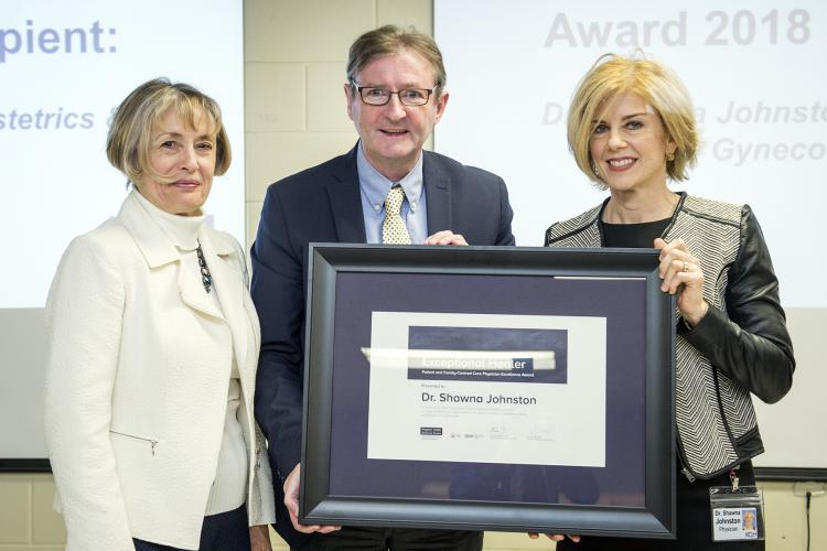 Dr. Shawna Johnston won this year's KHSC Exceptional Healer Award. She was one of 21 physicians nominated for the award by patients, families and staff for their work to provide patient and family centred care. This former HDH award was extended to both KHSC sites as a way of bringing our teams together.