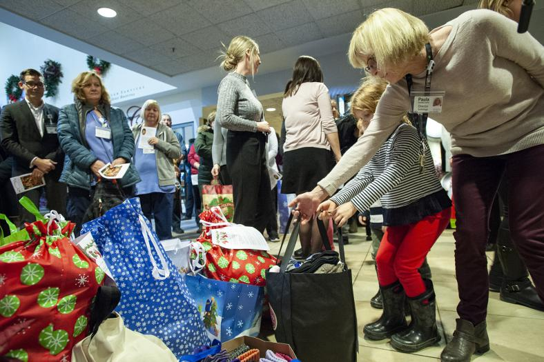 Staff across KHSC donated hundreds of socks, coats and mittens to the annual coat drive