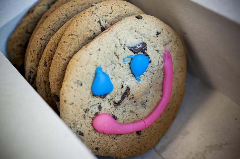 Smile cookies in a box