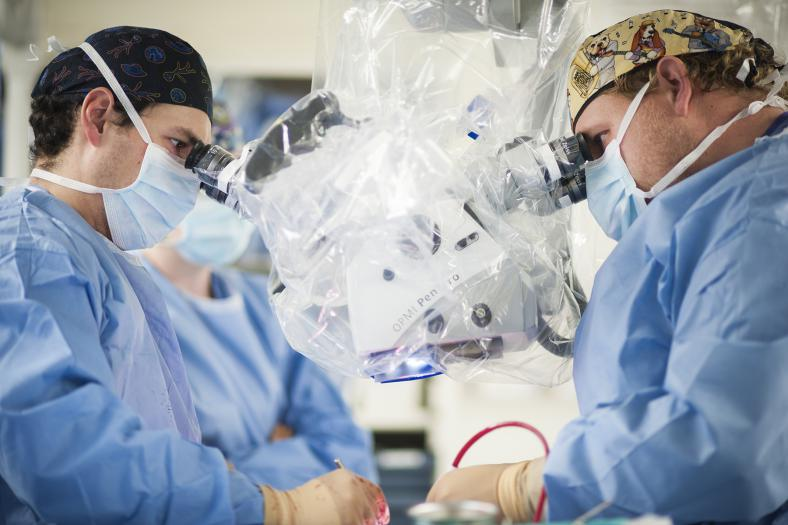 Doctors providing innovative care during surgery
