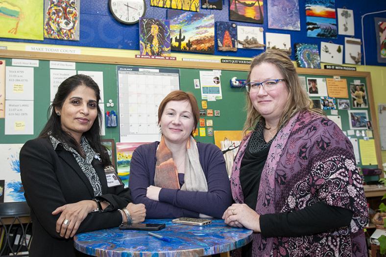 From left to right: Dr. Sarosh Khalid-Khan, Dr. Jennifer Davidson and Tammy Hagerman