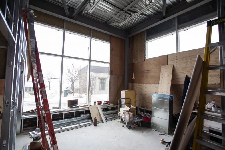 MRI waitingroom under construction