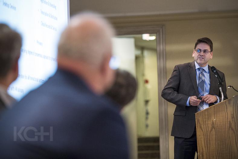 KGH CIO Troy Jones making a presentation to regional healthcare leaders