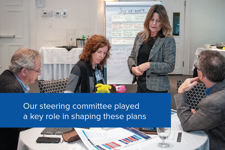 Our steering committee played a key role in shaping our future
