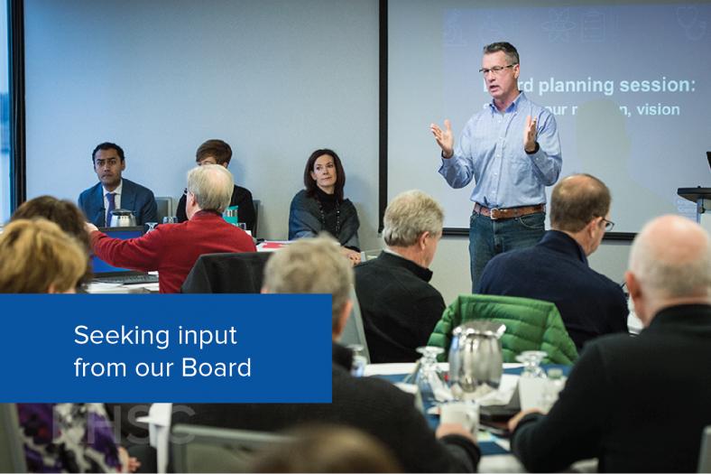 Seeking input from our Board