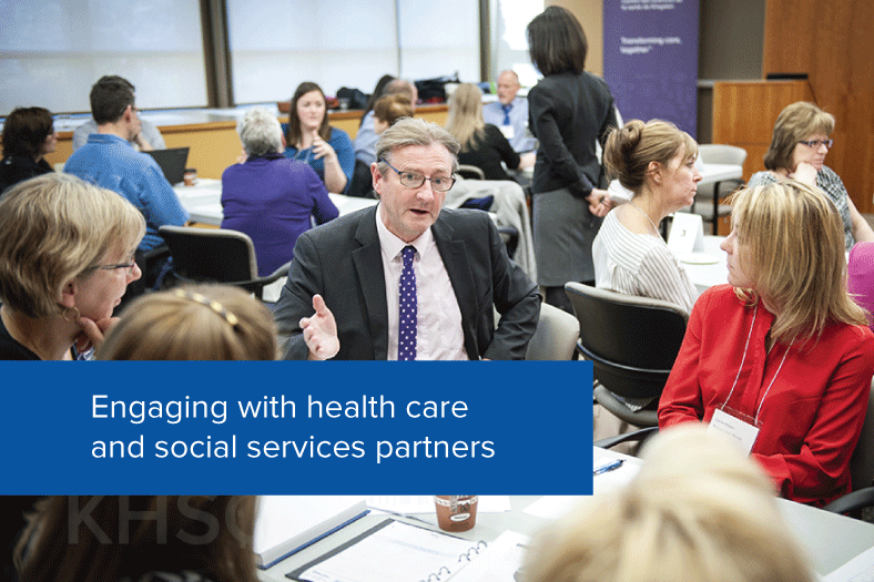 Engaging with health care and social services partners