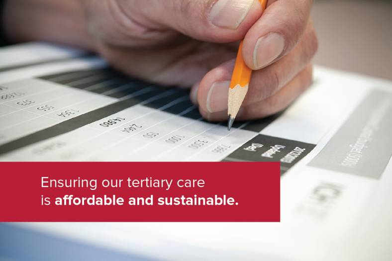 Ensuring our tertiary care is affordable and sustainable