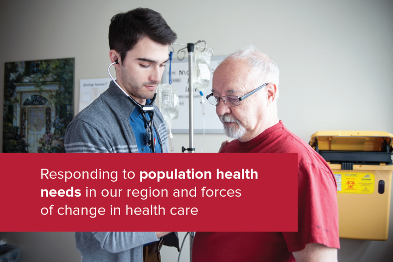 Responding to population health needs in our region and forces of change in health care